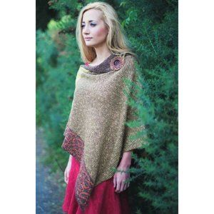 New Bill Baber Cape Poncho Celtic Mustard Brown